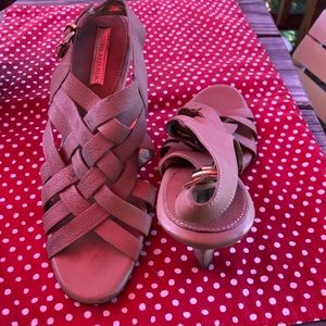 BANANA REPUBLIC Brown Leather Heeled Sandals ❤️